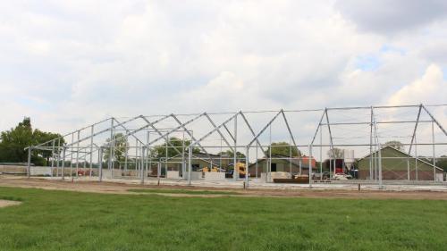 De constructie vanaf de zijkant