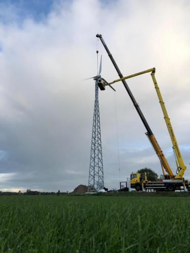 Turbine op de mast