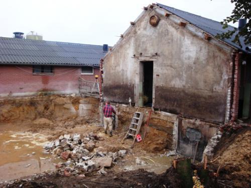 Uitgraven en slopen